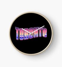 Toronto Typography Night Clock
