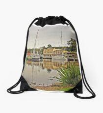 Strahan Esplanade from Risby Cove Drawstring Bag