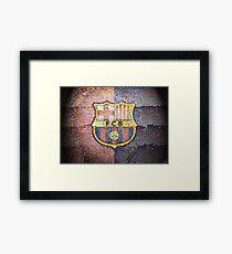Barca, F.C. Barcelona, mosaic tiles, 4800 images, soccer, Messi, Neymar, red, blue, dots Framed Print