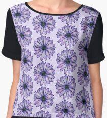 Watercolor Purple Daisy Flower Women's Chiffon Top
