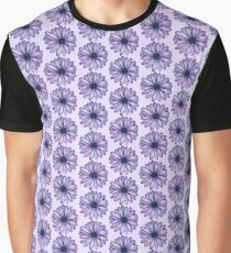 Watercolor Purple Daisy Flower Graphic T-Shirt