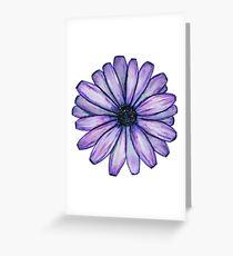 Watercolor Purple Daisy Flower Greeting Card
