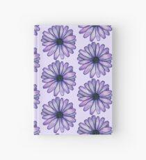 Watercolor Purple Daisy Flower Hardcover Journal