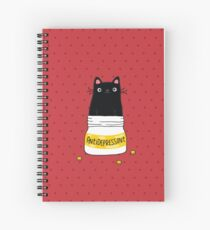 FUR ANTIDEPRESSANT Spiral Notebook
