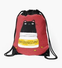 FUR ANTIDEPRESSANT Drawstring Bag