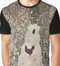 Gustav Klimt - Garden With Roosters Graphic T-Shirt