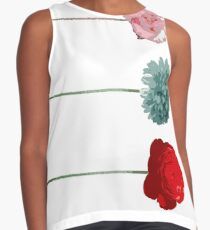 flowers, trend colors, spring, collage, pop art Contrast Tank