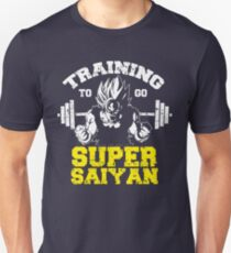 TRAINING TO GO SUPER SAIYAN - yellow Unisex T-Shirt