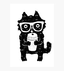 Coffee Cat Photographic Print