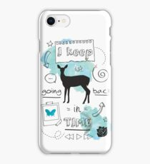 I keep going back in time iPhone Case/Skin