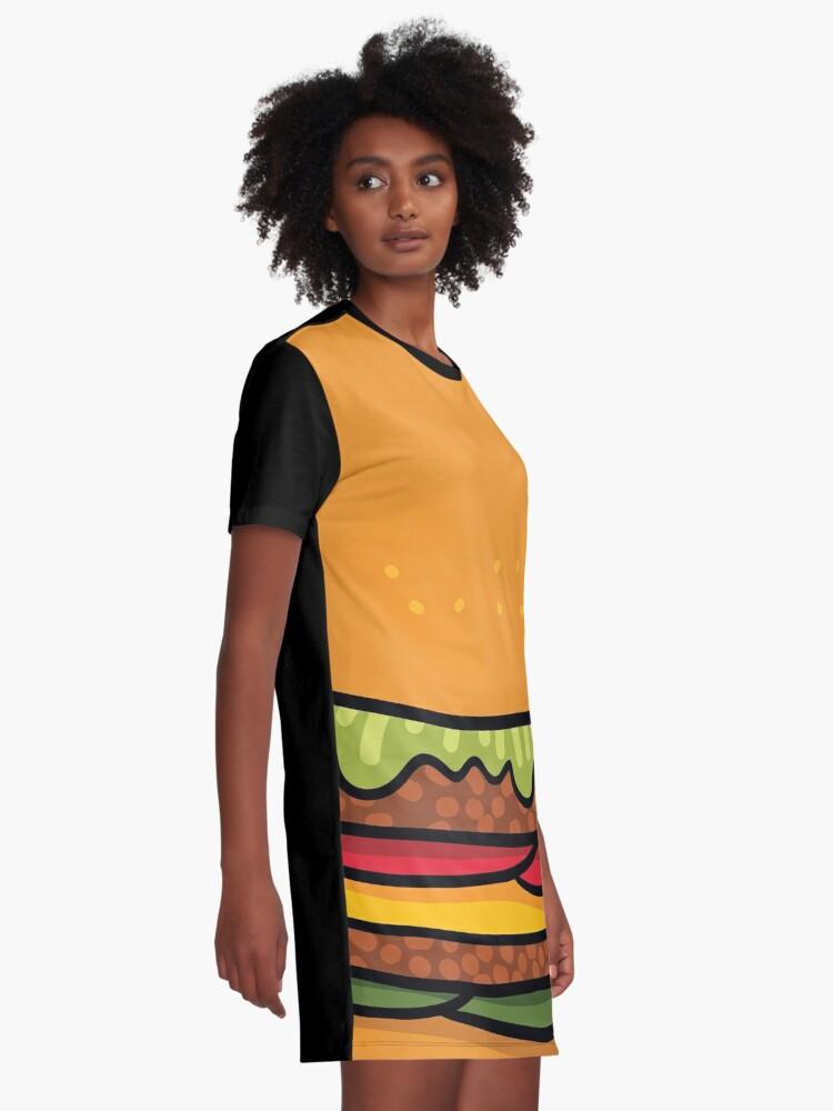 Alternate view of burger Graphic T-Shirt Dress