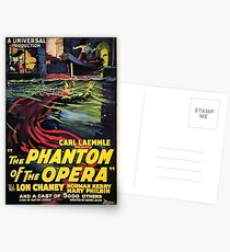 Vintage horror prints - Phantom Of the Opera Movie Poster Postcards
