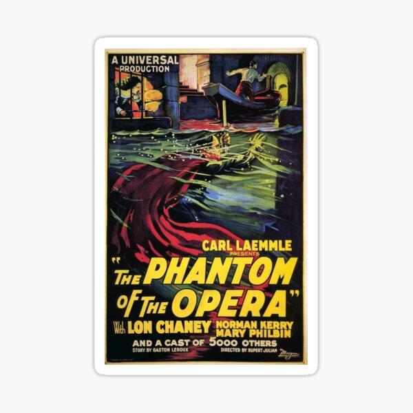 Vintage horror prints - Phantom Of the Opera Movie Poster Sticker