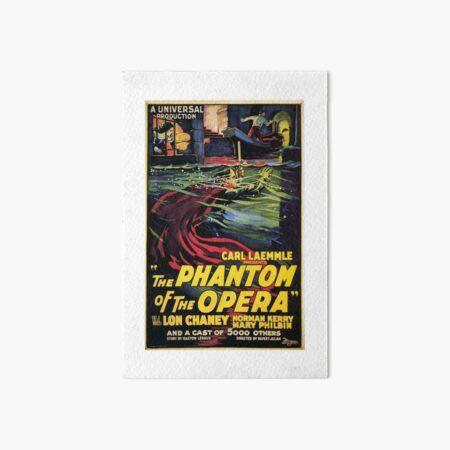 Vintage horror prints - Phantom Of the Opera Movie Poster Art Board Print