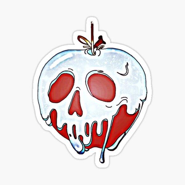 probar mi manzana venenosa Pegatina