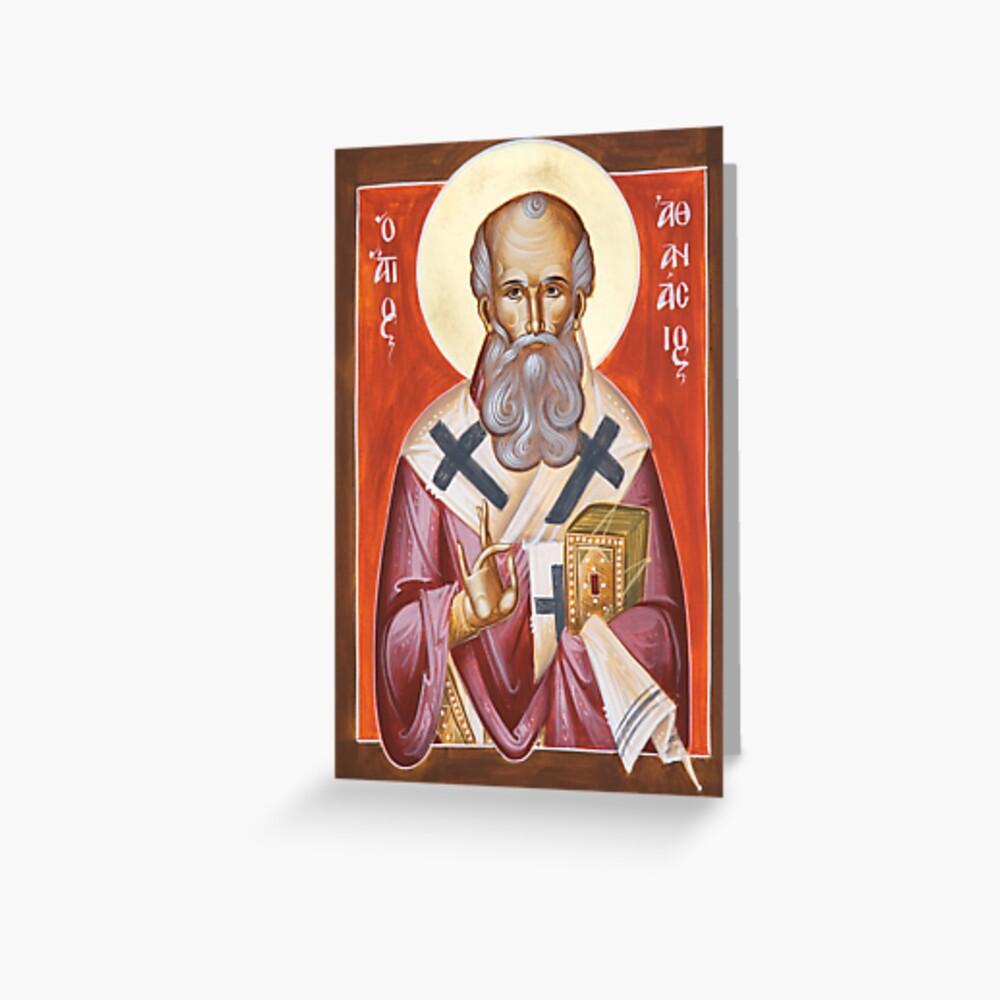 St Athanasios the Great Greeting Card