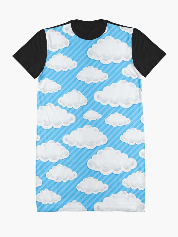 Alternate view of Clouds  Graphic T-Shirt Dress