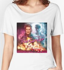 80's Style David Hasselhoff true survivor (Kung Fury) Women's Relaxed Fit T-Shirt