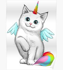 Cat unicorn Poster