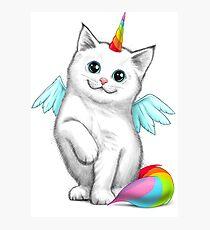 Cat unicorn Photographic Print
