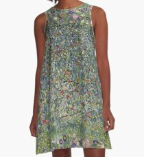 Gustav Klimt - Apple Tree I A-Line Dress