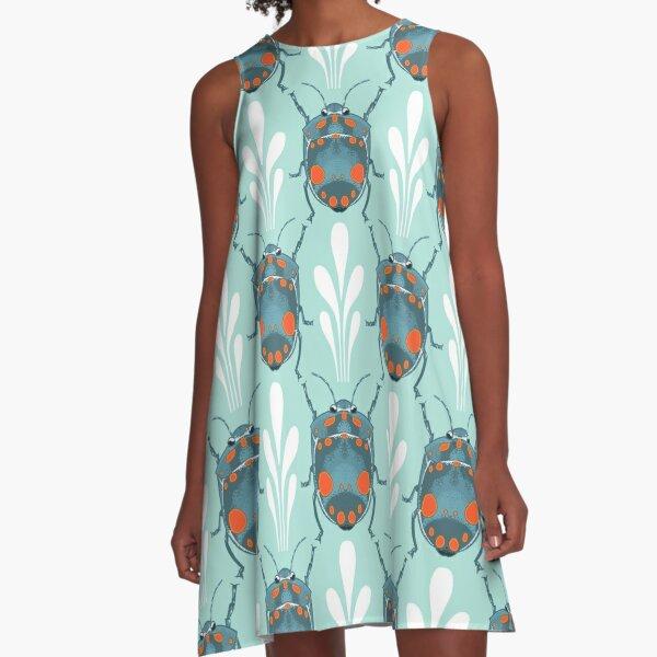 Blue Beetle A-Line Dress