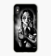 Tattooed Gothic Girl with candle iPhone Case