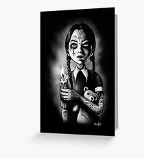 Tattooed Gothic Girl with candle Greeting Card