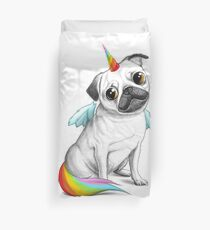 Pug unicorn Bettbezug