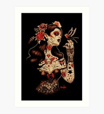 Day of the Dead Art, Day of the Dead Picture ,Dia De Los Muertos Art Print