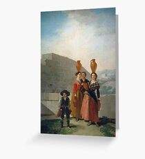 Francisco De Goya Y Lucientes - Women Carrying Pitchers Greeting Card