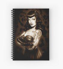 Bettie Page Tattooed Spiral Notebook