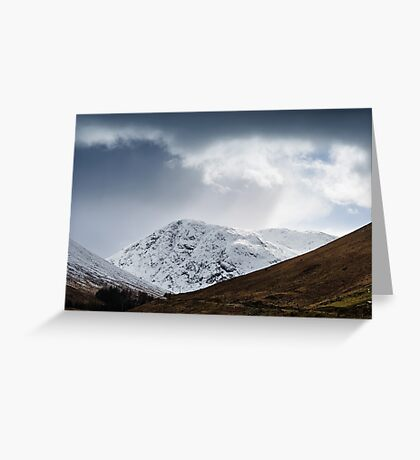 Meall Lighiche under snow Greeting Card