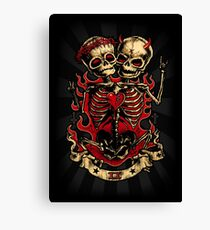 Rockabilly Art, Zombie , Skull Art , Lowbrow , punk Canvas Print