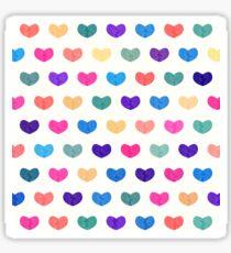 Colorful Cute Hearts Sticker