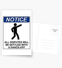 Disputes Dance-Off Postcards