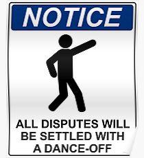 Disputes Dance-Off Poster