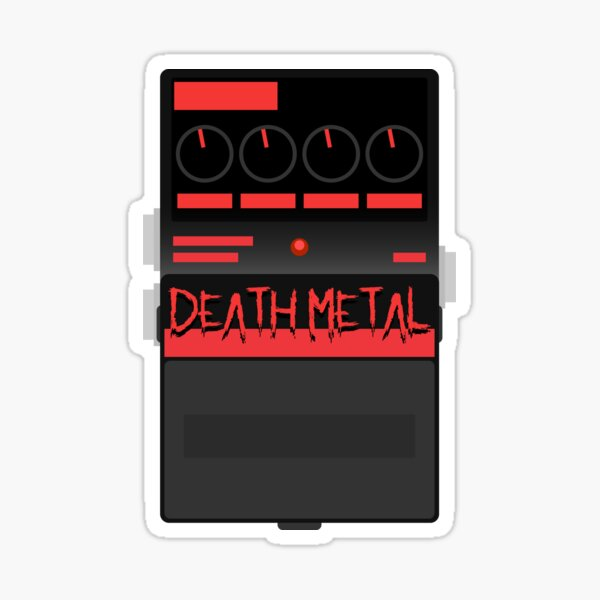 Death Metal Pedal Sticker