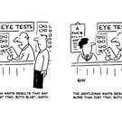 Customer Expects More from the Optician's Eye Test by Nigel Sutherland