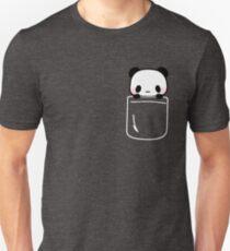 Panda In Pocket Cute Funny Emoji Blush Pink Cheeks Unisex T-Shirt
