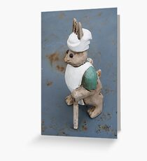 Bunny chef Greeting Card