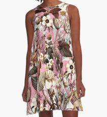 Natural Summer Pattern A-Line Dress
