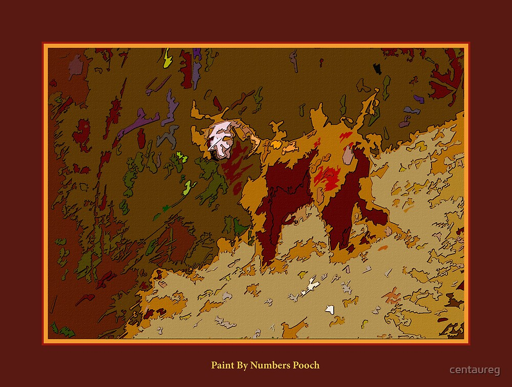 Paint By Numbers Pooch by Greg German