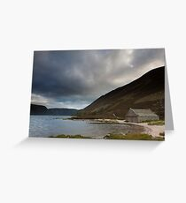 boathouse, loch muick Greeting Card