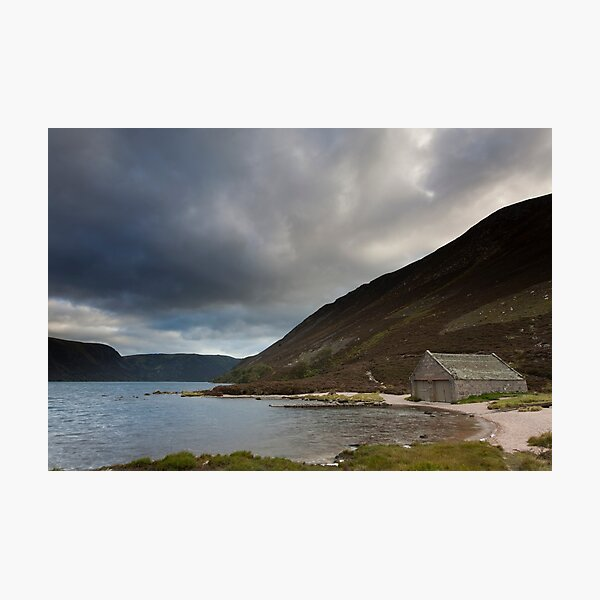 boathouse, loch muick Photographic Print