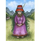 Hedge Witch (Print with white border) by NadiaTurner