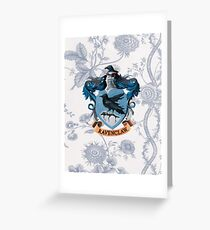Ravenclaw Floral Greeting Card