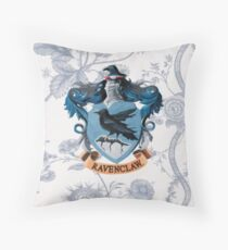 Ravenclaw Floral Throw Pillow
