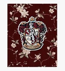 Gryffindor Floral Photographic Print