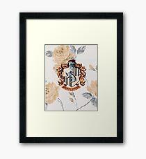 Hufflepuff Floral Framed Print